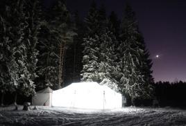 Корпоративный Новый год в лесу
